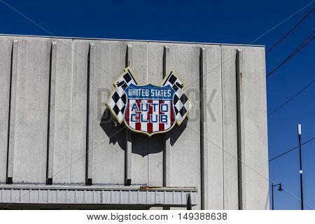 Indianapolis - Circa September 2016: United States Auto Club Headquarters. USAC Sanctions Many Auto Races in the US II