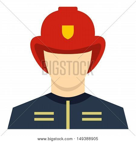 Fireman icon in flat style isolated on white background. People symbol vector illustration