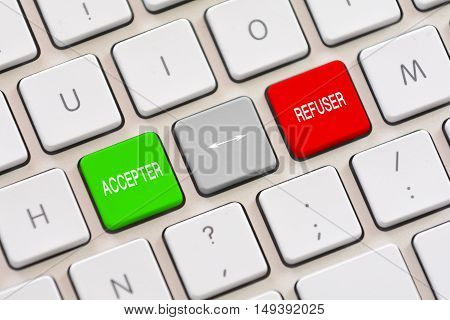 Accepter or Refuser choice in french on keyboard