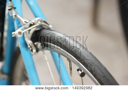 Rear wheel of a roadbike / Bicycle equipment