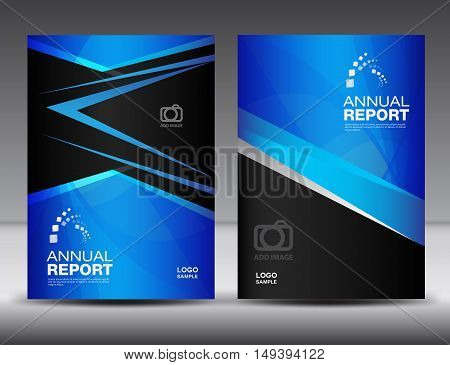Blue Cover template, annual report ,business brochure flyer ,magazine cover ,template ,cover design, layout vector book cover ,booklet ,advertisement ,presentation ,catalog , background