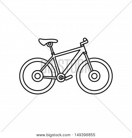 Bicycle icon in outline style isolated on white background vector illistration