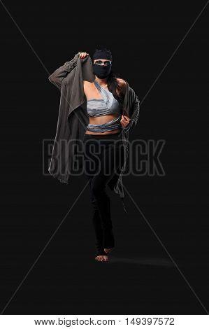 warrior women posing with different designs in studio
