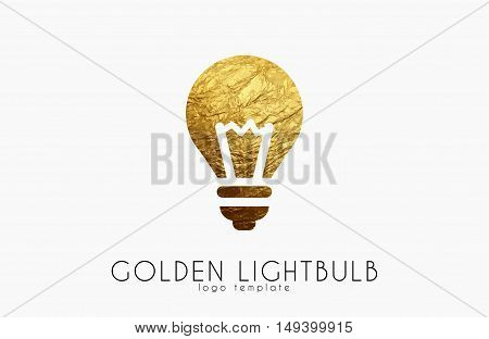 Lightbulb logo template. Lightbulb icon. Abstract lightbulb logo. Creative logo template