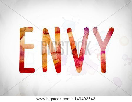 Envy Concept Watercolor Word Art