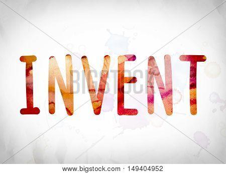Invent Concept Watercolor Word Art