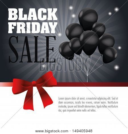 Balloons icon. Black Friday sale and offer theme. Grey background. Vector illustration