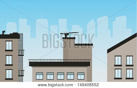 Urban scenery of vector illustration collection stock