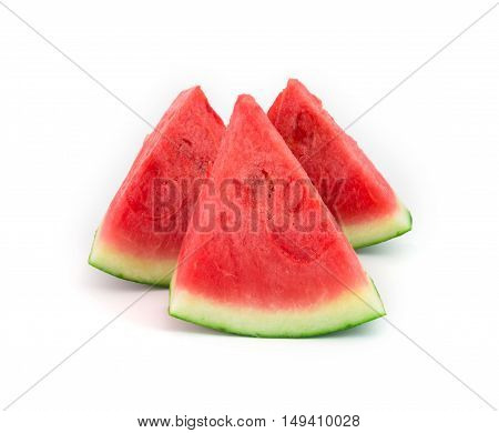 fresh seedless watermelon isolated on white studio isolated