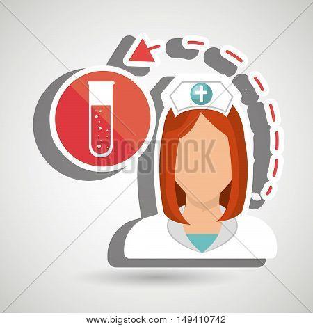 nurse health care service vector illustration eps 10