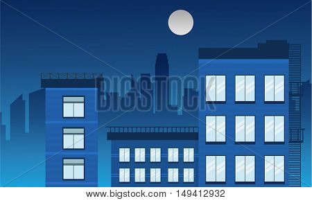 Vector illustration of building landscape collection stock