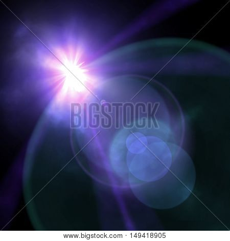Light Of A Searchlight Beams Through A Smoke. Background In Show