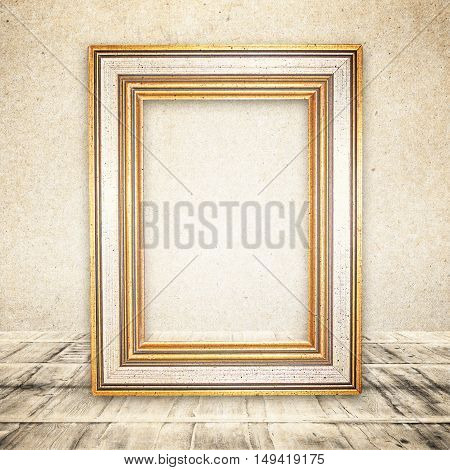Light Room Or Space With Wooden Floor. Vintage Interior. Retro Background