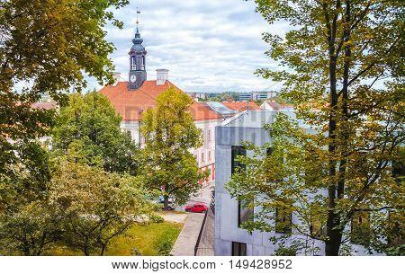 TARTU ESTONIA. Tartu Town Hall, autumn time