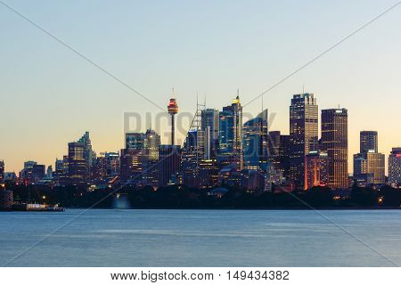 Long exposure Sydney City Sydney NSW Australi