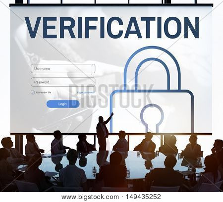Verification Log In User Password Register Concept