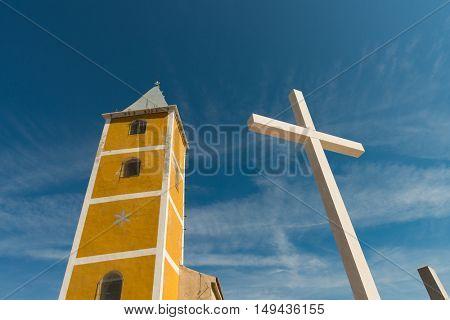 Sveti Jurje church and cemetery in Baska - Krk Croatia