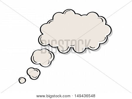 Speak or thought bubble illustration isolated on white background. Cartoon speak bubble.