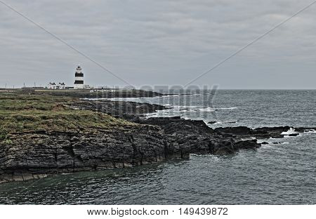 Hook Lighthouse at Hook Head County Wexford Ireland - HDR