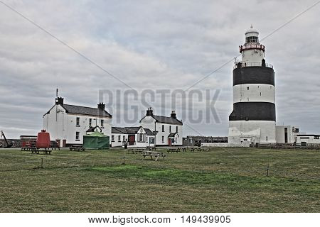 Hook Lighthouse at Hook Head County Wexford, Ireland - HDR