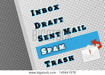 Comic Mail Box Menu With Spam Filter