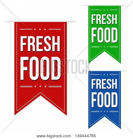 Fresh Food Banner Design Set