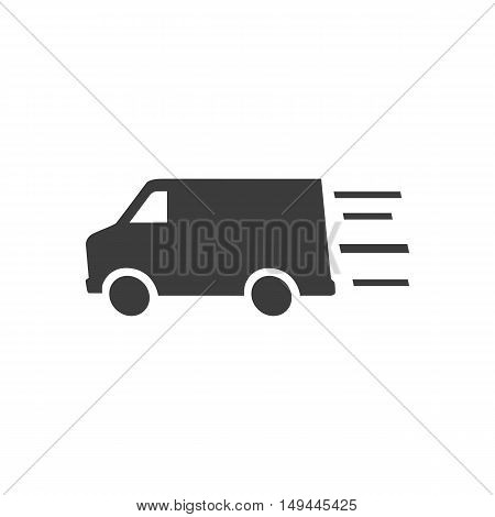 Truck icon. Truck Vector isolated on white background. Flat vector illustration in black. EPS 10