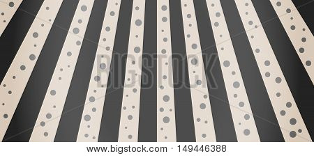 Crosswalk Illustration With Black Dots