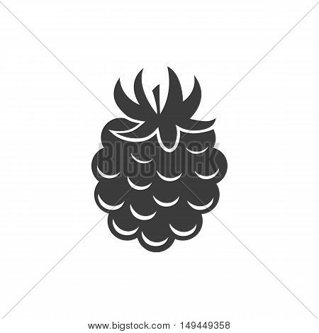 Raspberry Icon. Raspberry Vector Isolated On White Background. Flat Vector Illustration In Black. Ep