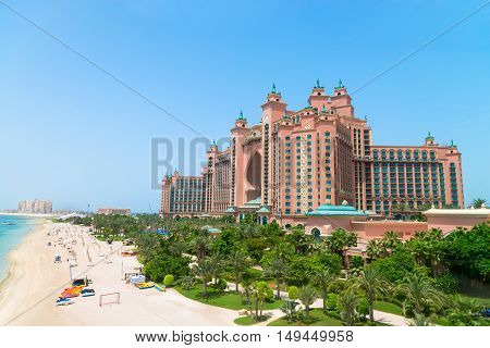 Atlantis, The Palm Luxury Hotel Resort Is Located On An Artificial Archipeligo In The United Arab Em
