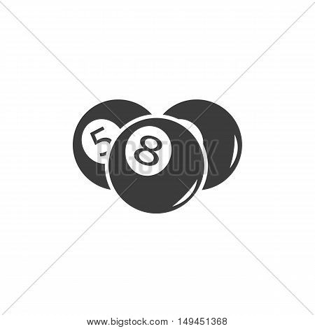 Billiards ball icon. Billiards ball Vector isolated on white background. Flat vector illustration in black. EPS 10