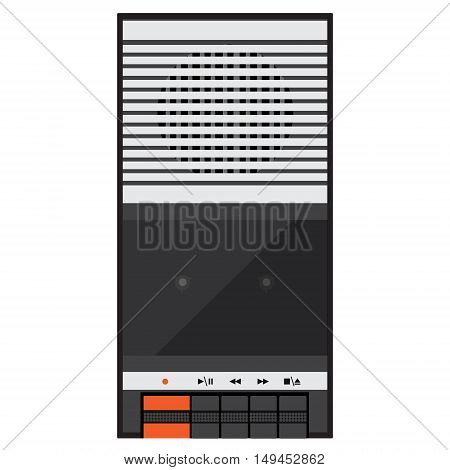 Vector illustration vintage audio tape recorder. Tape recorder icon