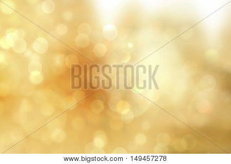 Gold christmas lights. Christmas soft luxury Bokeh background
