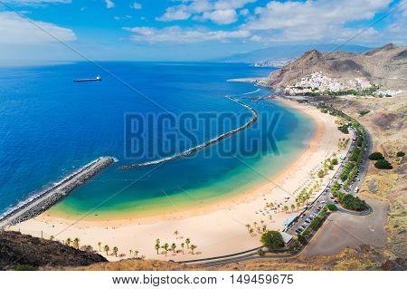 aerial view of Las Teresitas beach, Tenerife