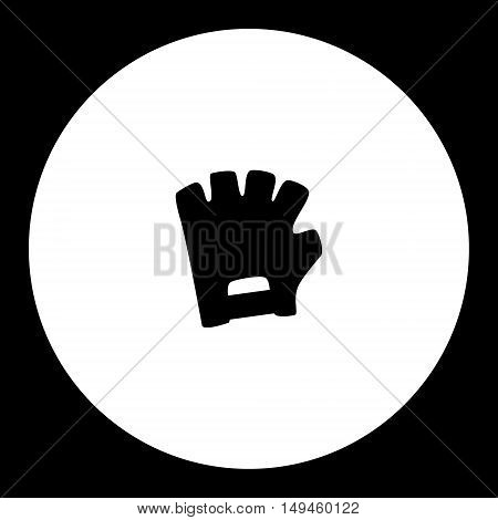 Black Isolated Cycling Gloves Simple Icon Eps10