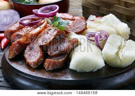 sausage with cassava