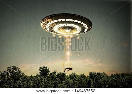 3d illustration of a unidentified flying object
