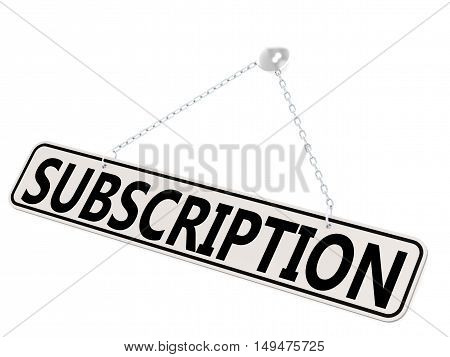 Subscription Banner Isolated On White