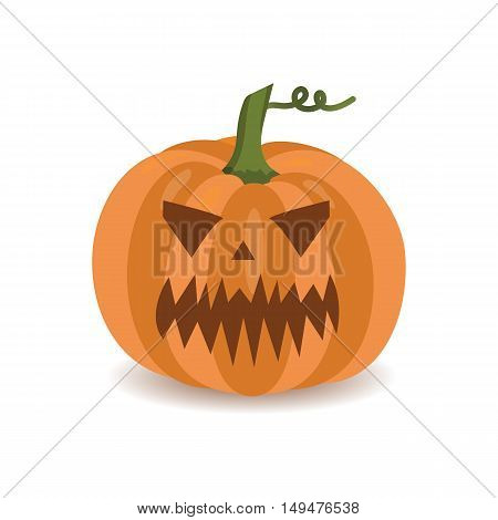 Pumpkin for Halloween isolated on white background