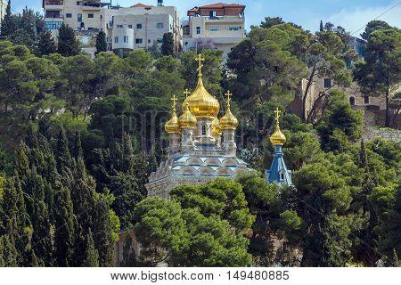 Mary Magdalene Convent On The Mount Of Olives, Jerusalem