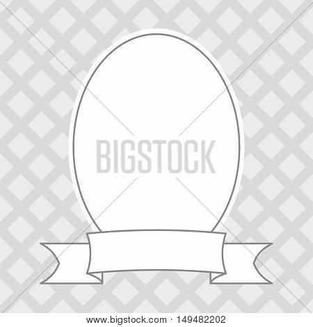 Photo decor vector frame on grey background
