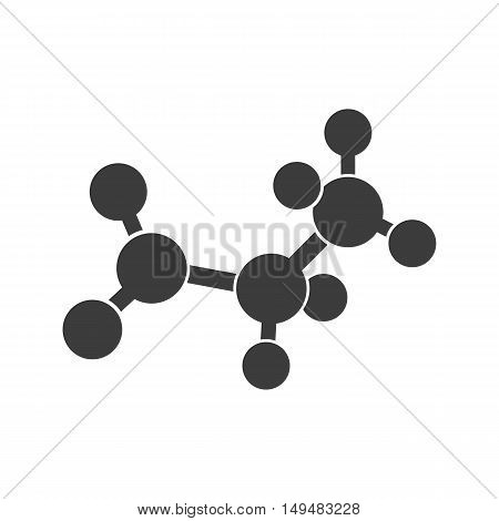 Molecular Structure Icon. Molecular Structure Vector Isolated On White Background. Flat Vector Illus