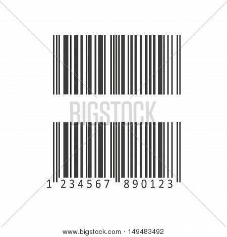 Barcode And Number Icon. Barcode And Number Vector Isolated On White Background. Flat Vector Illustr