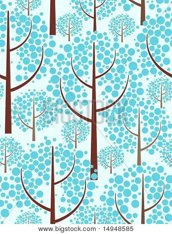 Winter forest. Abstract seamless background. Vector illustration. poster