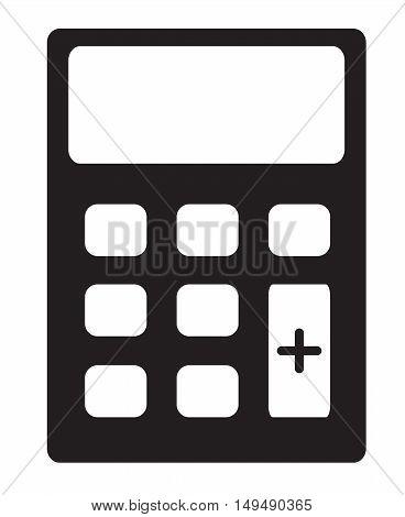 calculator icon on white background, Calculator cash register