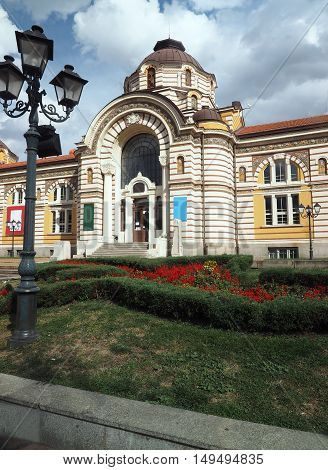 beautiful historic architecture Sofia Bulgaria Europe near National Theater