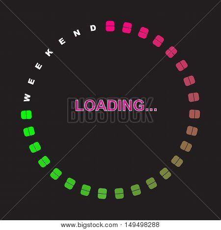 Loading Progress Bar. Waiting for the End of the Week