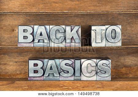 Back To Basics Tray