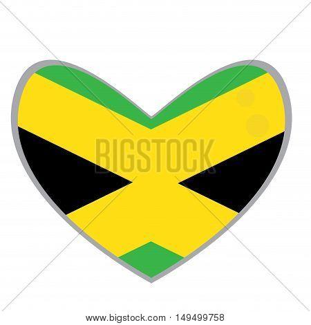 Isolated Jamaican Flag