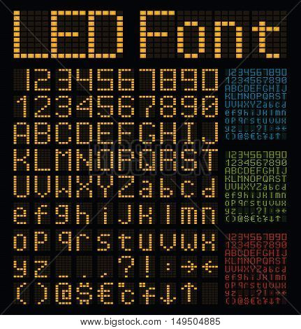 led alphabet and numbers, led font, neon font, glow font, glow alphabet, scoreboard letters, airport letters